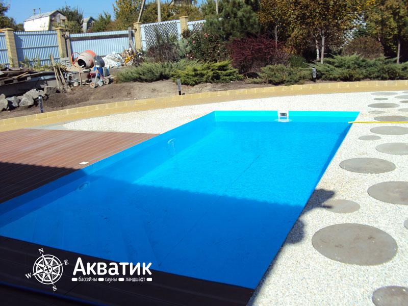 Строительство бани полипропиленового бассейна