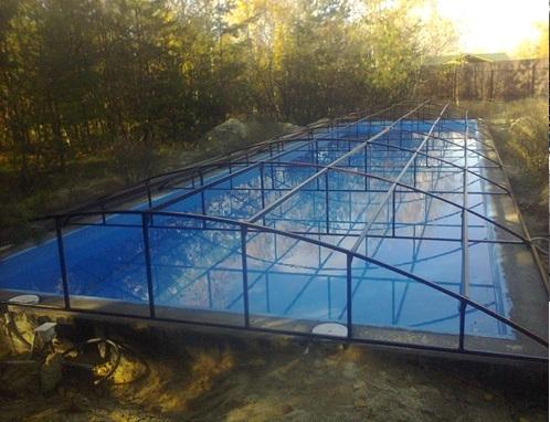 Зимние накрытие для бассейна под ключ