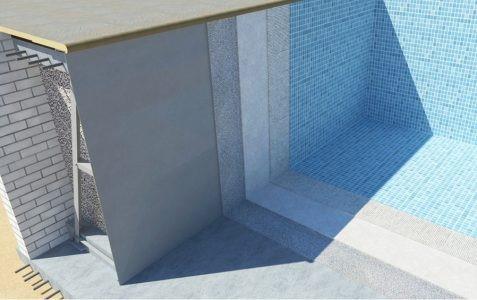 Разрез панельного бассейна